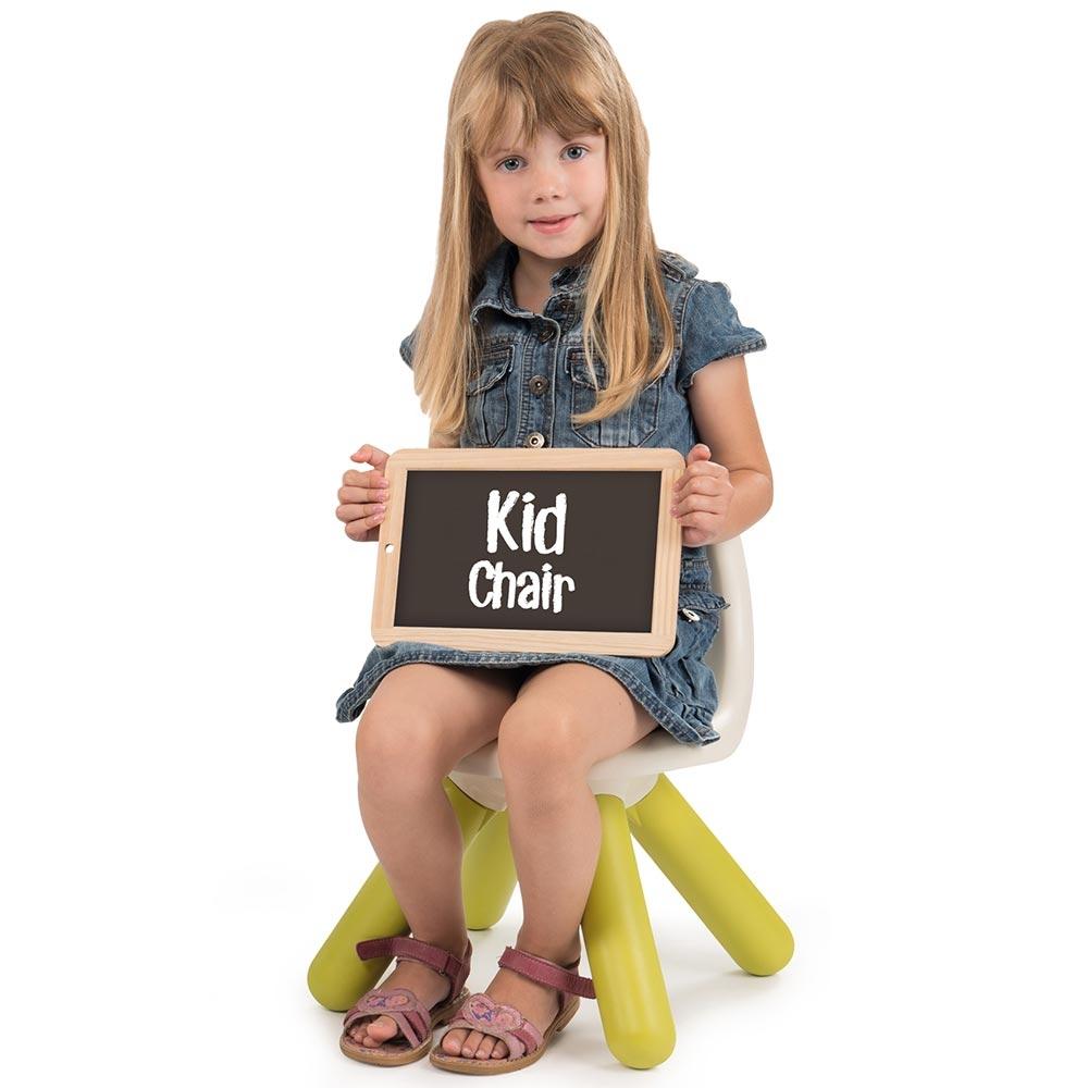 Scaunel cu spatar pentru copii Smoby green imagine