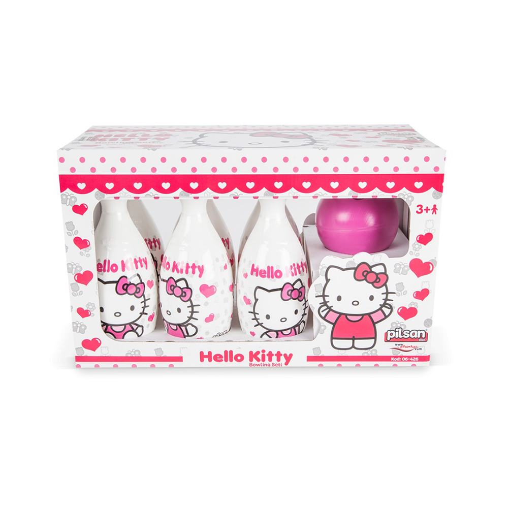 Set bowling cu popice si bila Hello Kitty