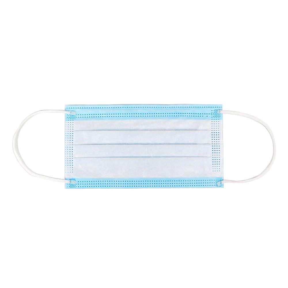 Set de 10 buc masca de unica folosinta cu 3 pliuri si 3 straturi albastru imagine