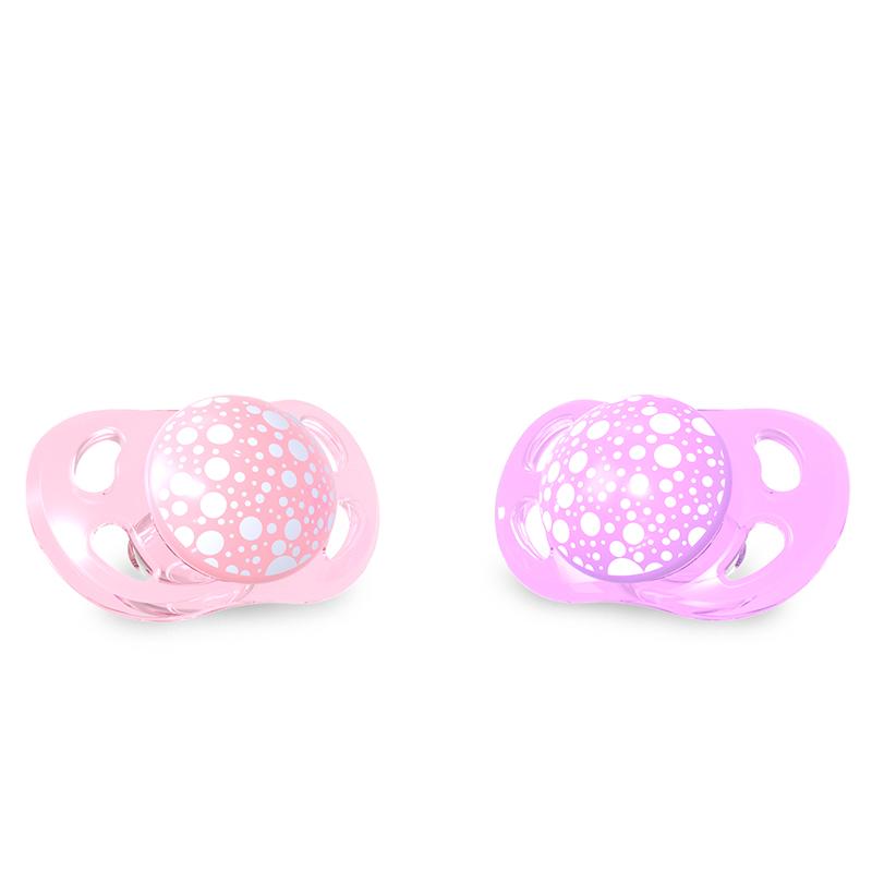 Suzete 6 luni+ pastel pink purple Twistshake