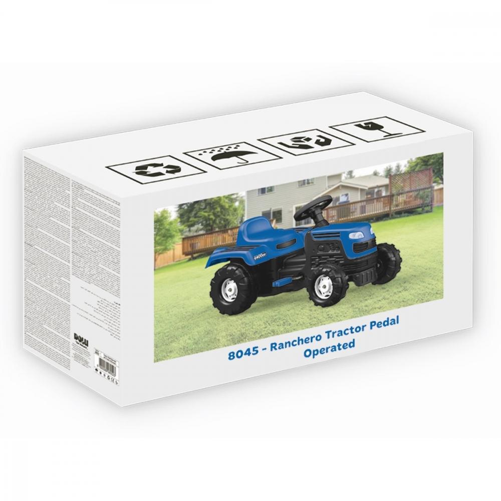 Tractor cu pedale albastru imagine