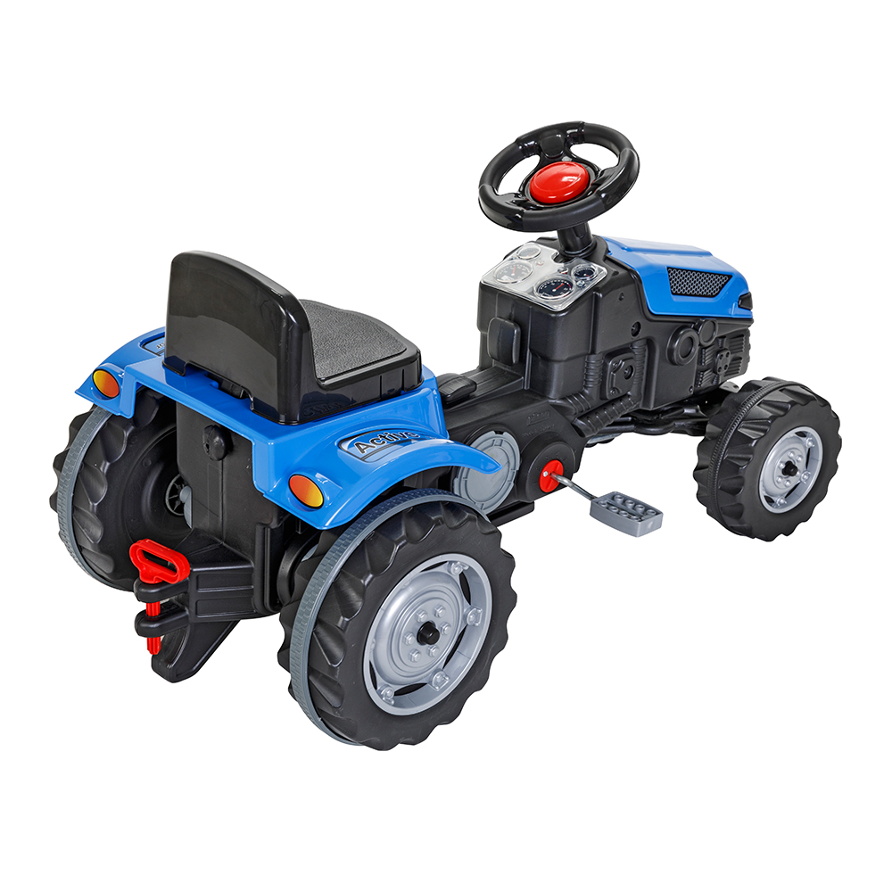 Tractor cu pedale pentru copii Active Blue