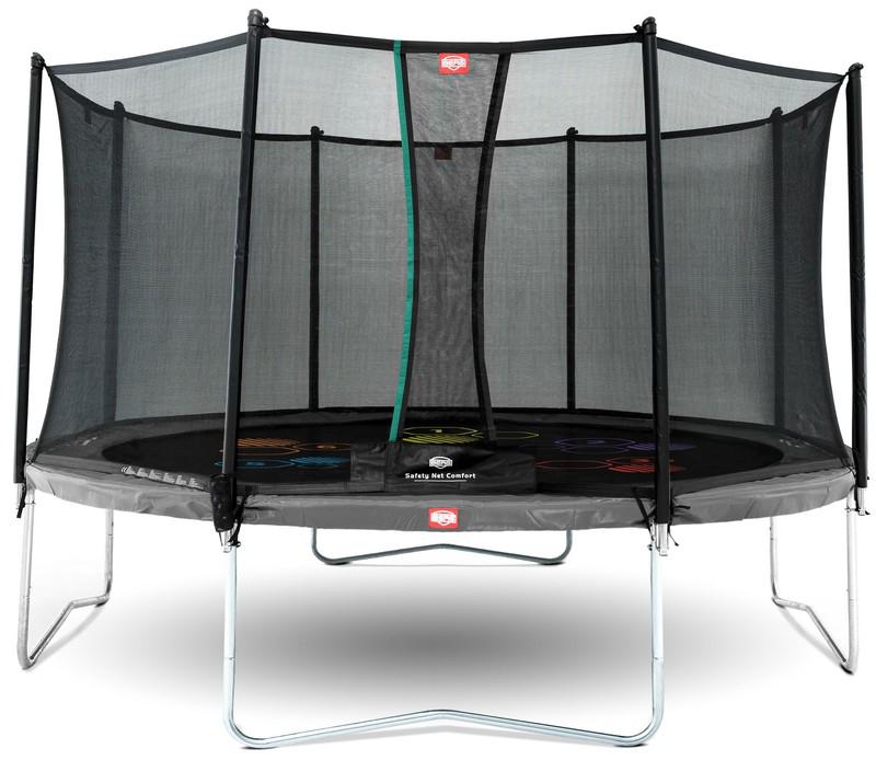 Trambulina Berg Favorit Regular gri Level cu plasa Comfort 430 imagine