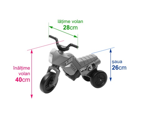 Tricicleta fara pedale Enduro Mini portocaliu-portocaliu