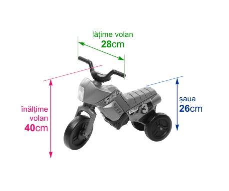 Tricicleta fara pedale Enduro Mini purpuriu-negru imagine