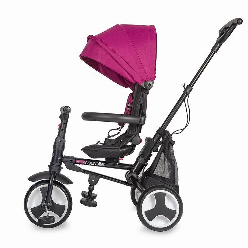 Tricicleta ultrapliabila Coccolle Spectra Air roti cauciuc plin Magenta