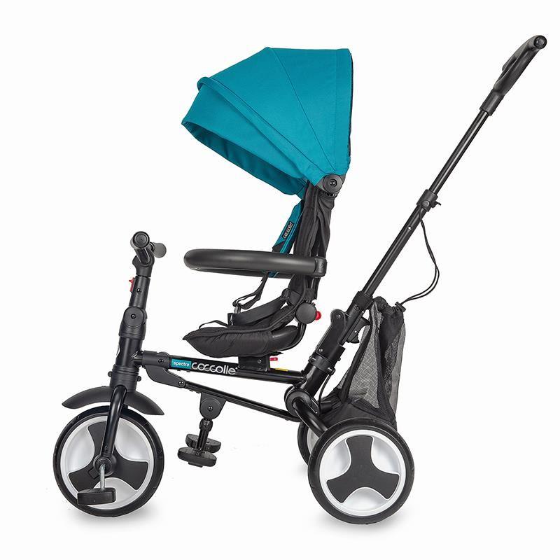 Tricicleta ultrapliabila Coccolle Spectra Air roti cauciuc plin Turquoise Tide