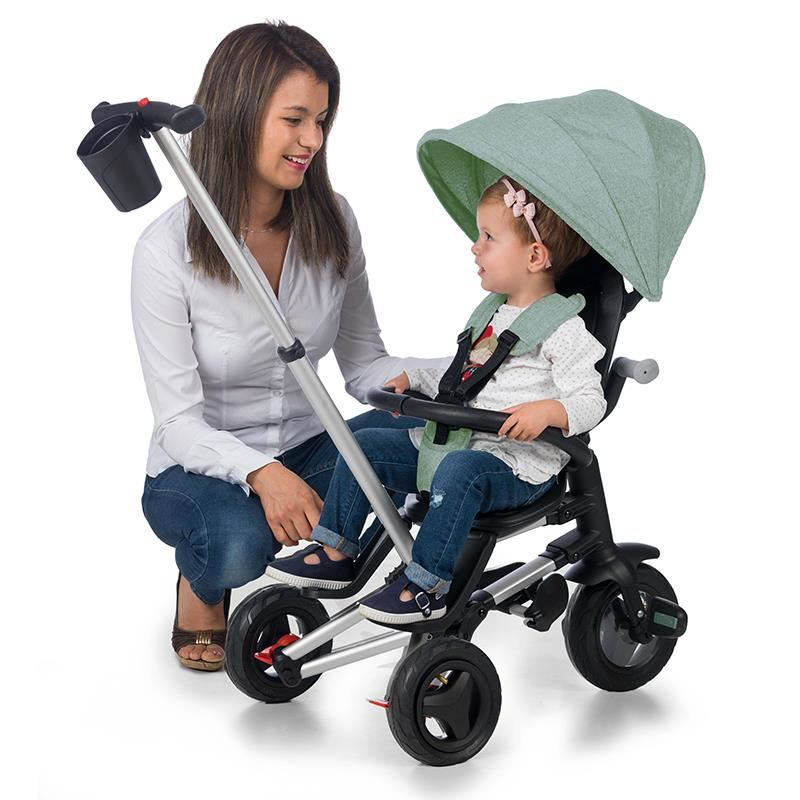 Tricicleta ultrapliabila cu roti Eva Qplay Nova verde menta imagine