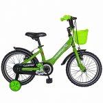Bicicleta Carpat C1401C 14 V-Brake cosulet si roti ajutatoare 3-5 ani verde/negru