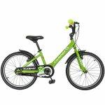 Bicicleta Carpat C2001C 20 V-Brake cu cosulet 7-10 ani verde/negru