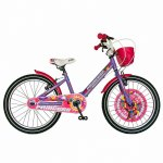 Bicicleta Carpat Princess C2008C 20 V-Brake cu cosulet 7-10 ani violet/alb