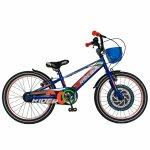 Bicicleta Carpat Rider C2007C 20 V-Brake cu cosulet 7-10 ani albastru/portocaliu