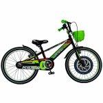 Bicicleta Carpat Rider C2007C 20 V-Brake cu cosulet 7-10 ani negru/verde