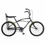 Bicicleta City 26 Carpat Liberta C2693A cu cadru de otel gri/crem