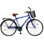 Bicicleta City 28 Velors  V2893B cu cadru otel albastru/alb