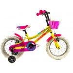 Bicicleta copii Dhs 1404 galben 14 inch