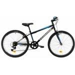 Bicicleta copii Dhs 2421 negru bleu 24 inch