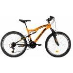 Bicicleta copii Dhs Terrana 2445 portocaliu deschis 24 inch