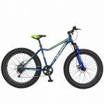 Bicicleta Fat Bike Velors V2605A cadru otel 6 viteze albastru/verde