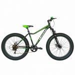Bicicleta Fat Bike Velors V2605A cadru otel 6 viteze negru/verde
