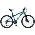 Bicicleta Mtb-Ht 26 Carpat Thunder C2654A cadru aluminiu culoare albastru/alb
