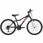 Bicicleta Mtb-Ht 26 Velors V2651A cadru otel culoare negru/rosu