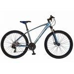 Bicicleta Mtb-Ht 27.5 Carpat Invictus C2757C cadru aluminiu culoare gri/albastru