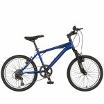 Bicicleta Mtb Velors 2010A roata de 20 7-10 ani albastru/negru