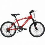 Bicicleta Mtb Velors 2010A roata de 20 7-10 ani rosu/alb
