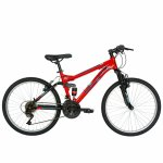 Bicicleta Mtb Velors 2060A roata 20 frana V-Brake 7-10 ani rosu/negru