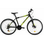 Bicicleta Mtb Venture 2621 L negru galben 26 inch