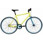Bicicleta oras Dhs Fixie 2896 495 mm galben albastru 28 inch