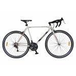 Bicicleta Road Carpt Mustang C2871A cadru otel 18 viteze culoare alb/rosu