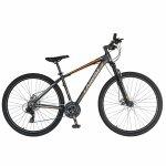 Bicicleta de munte Carpat C2970A 29 cu cadru aluminiu 21 viteze negru/portocaliu