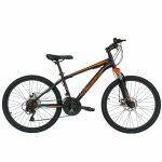 Bicicleta de munte Velors 2410A 24 frana disc 21 viteze negru/portocaliu