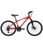 Bicicleta de munte Velors 2410A 24 frana disc 21 viteze rosu/alb