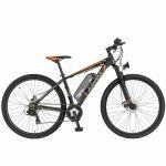 Bicicleta electrica MTB-HT 29 Carpat Montana C2999E cadru aluminiu 7 viteze negru/portocaliu