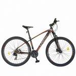 Bicicleta hidraulica Mtb-Ht Carpat C2969H 29 aluminiu frane hidraulice disc Shimano 21 viteze gri/rosu