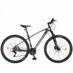 Bicicleta hidraulica Mtb-Ht Carpat C2969H 29 aluminiu frane hidraulice disc Shimano 21 viteze negru/turquoise