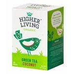 Ceai verde si cocos eco 20 plicuri Higher Living