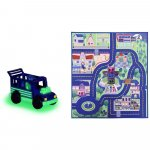 Covoras de joaca Dickie Toys Eroi in Pijama cu masina