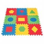Covoras puzzle din spuma Forme geometrice 9 piese