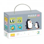 Duo Puzzle Mama si puiul 2 piese
