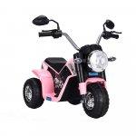 Motocicleta electrica cu scaun din piele Nichiduta Mini 6 volti Pink