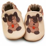 Pantofi cu talpa moale Liliputi Beige Doggies XL 15 cm