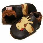 Pantofi cu talpa moale Liliputi Brown Giraffe S 11,3 cm
