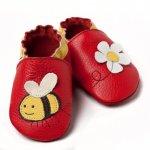 Pantofi cu talpa moale Liliputi Little bee L 14 cm