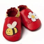 Pantofi cu talpa moale Liliputi Little bee XL 15 cm