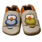 Pantofi cu talpa moale Liliputi Silent Birds XL 15 cm