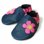 Pantofi cu talpa moale Liliputi Spring Flower XXXXL 18,3 cm